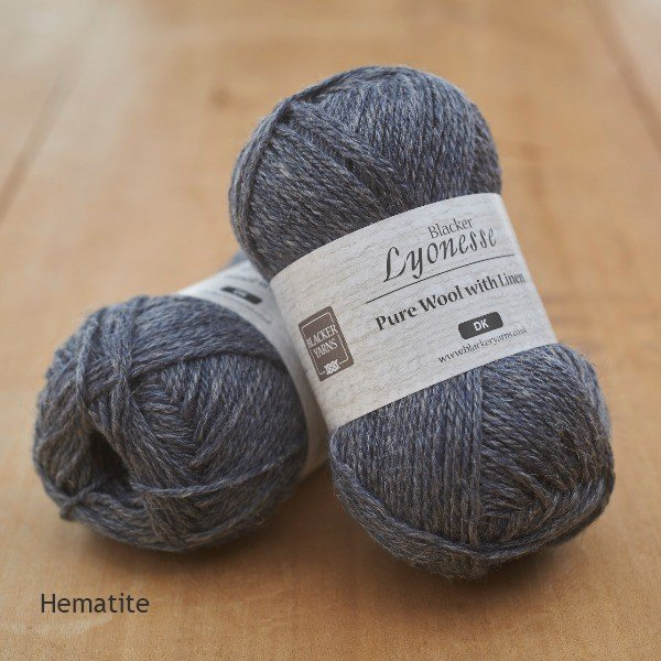 Lyonesse over-dyed Hematite pale navy DK yarn