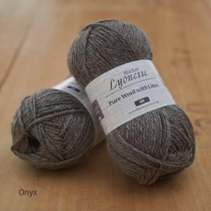 Lyonesse over-dyed Onyx grey DK yarn