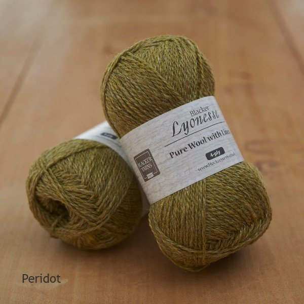 Lyonesse over-dyed Peridot olive green 4-ply yarn