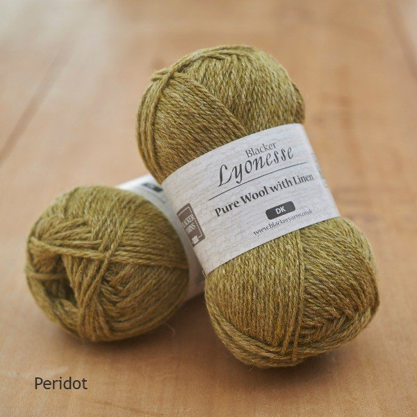 Lyonesse over-dyed Peridot olive green DK yarn
