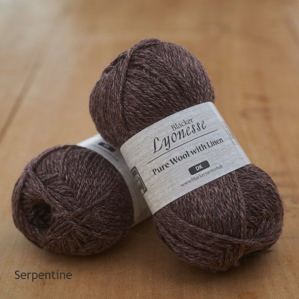 Lyonesse over-dyed Serpentine deep plum DK yarn