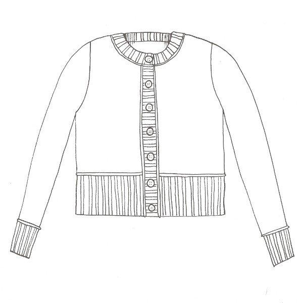 Macaulay Cardigan Free Pattern Schematic - Blacker Yarns