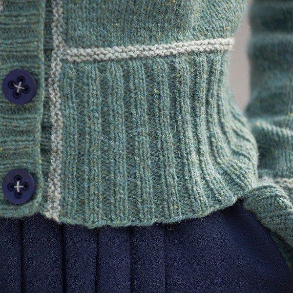 Macaulay Cardigan Free Pattern hem detail - Blacker Yarns