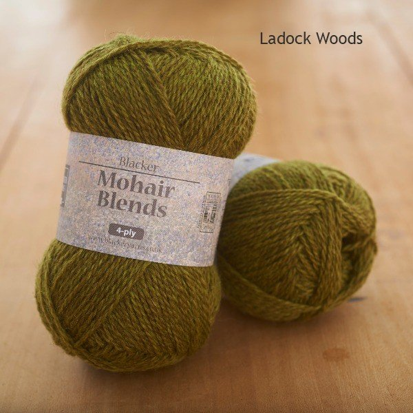 Mohair Blends 4-ply Ladock Woods pale olive