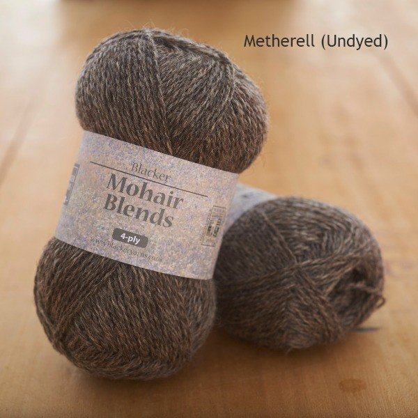 Mohair Blends 4-ply Metherell dark undyed