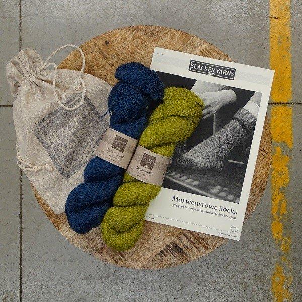 Morwenstowe Socks Project Kit3 - Blacker Yarns