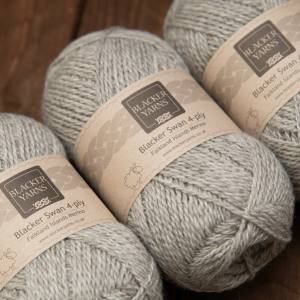 Pale Grey Stone 4 Ply - Blacker Yarns