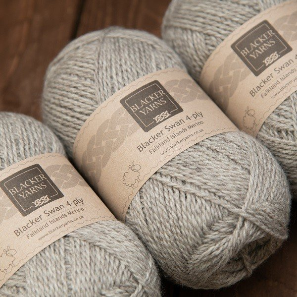 Pale Grey Stone 4 Ply - Blacker Yarns