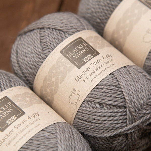 Pebble Mid Grey 4 ply - Blacker Yarns