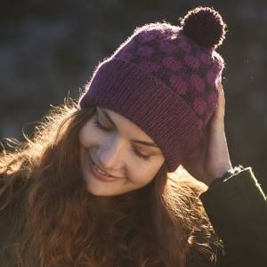 Pointillist Hat Blacker Yarns Free Pattern