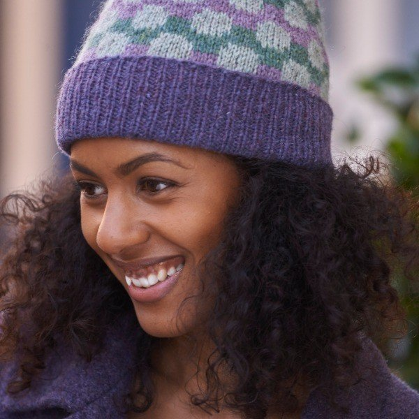 Pointillist Hat Close Up - Blacker Yarns