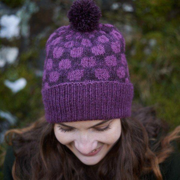 Pointillist Hat Purple - Blacker Yarns