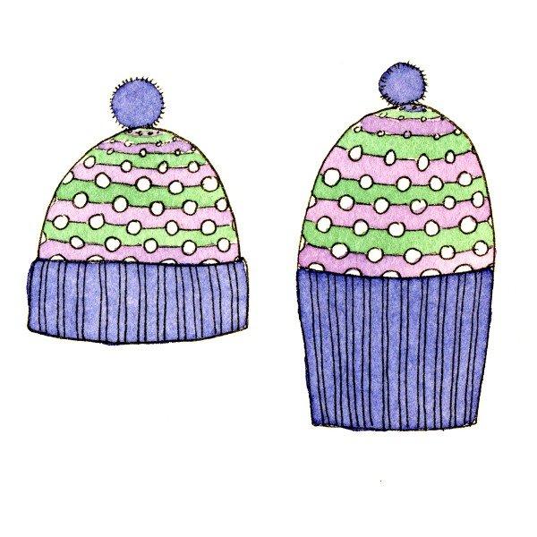 Pointillist Hat Schematic - Blacker Yarns