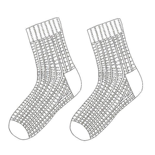 Polgooth Socks Schematic - Blacker Yarns