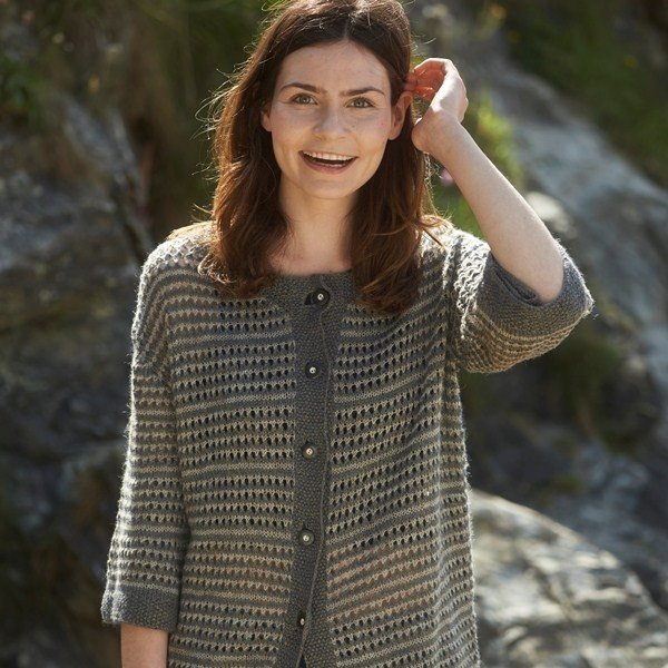 Polzeath Cardigan Long Version - Blacker Yarns