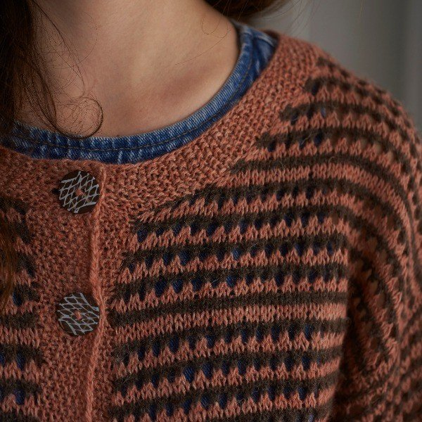 Polzeath Cardigan Neck Detail - Blacker Yarns