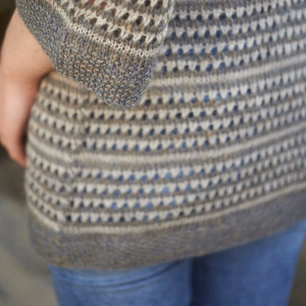 Polzeath Cardigan Side Detail - Blacker Yarns