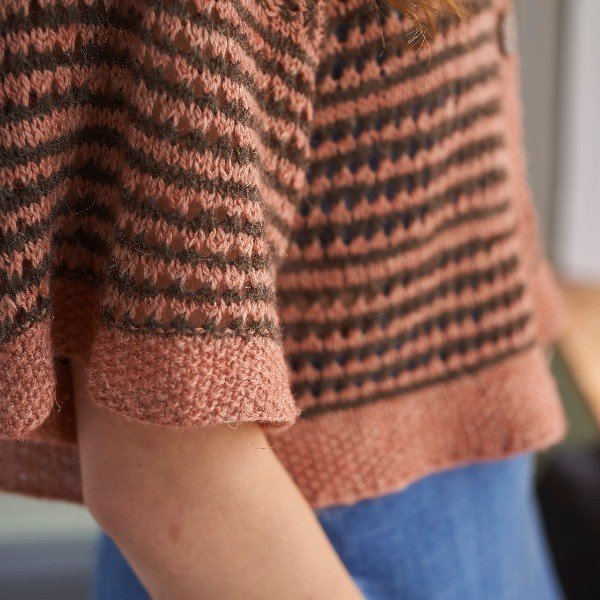 Polzeath Cardigan Sleeve Detail - Blacker Yarns