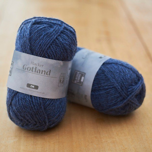 Pure Gotland DK Downpour denim blue knitting yarn