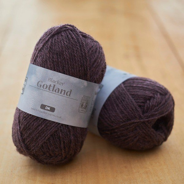 Pure Gotland DK Dusk purple knitting yarn