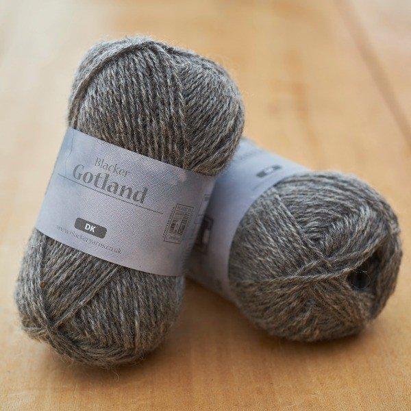 Pure Gotland DK Mist undyed grey knitting yarn