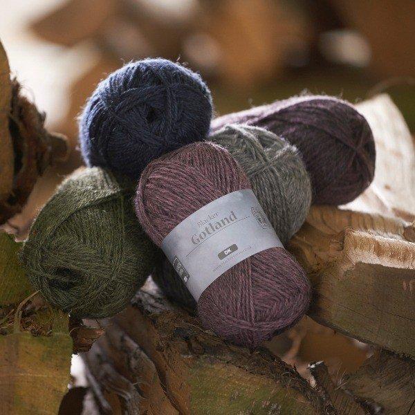 Pure Gotland Dawn DK knitting yarn group shot - Blacker Yarns