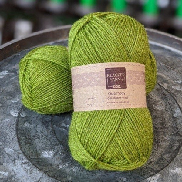 Pure Romney Guernsey Bright Olive yarn