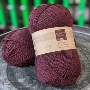 Pure Romney Guernsey Burgundy yarn