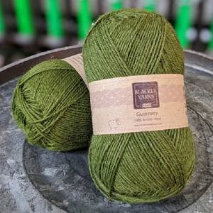 Pure Romney Guernsey Olive yarn