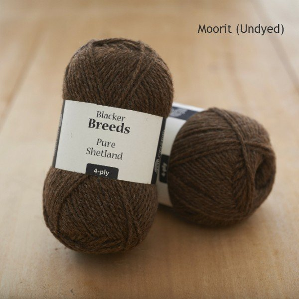Pure Shetland 4-ply Moorit undyed knitting yarn