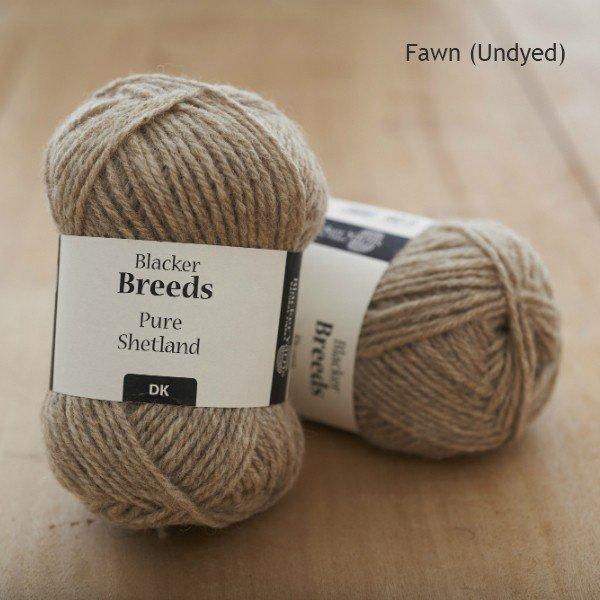 Pure Shetland DK Fawn undyed knitting yarn