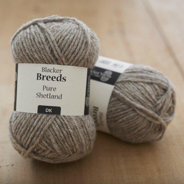 Pure Shetland DK Pale Grey undyed knitting yarn