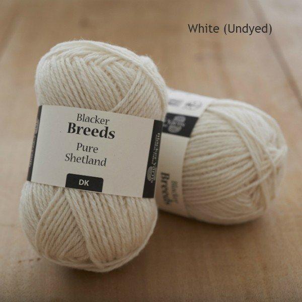 Pure Shetland DK White undyed knitting yarn