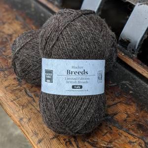 Blacker Yarns Pure Shetland with Jacob 4-ply undyed knitting yarn