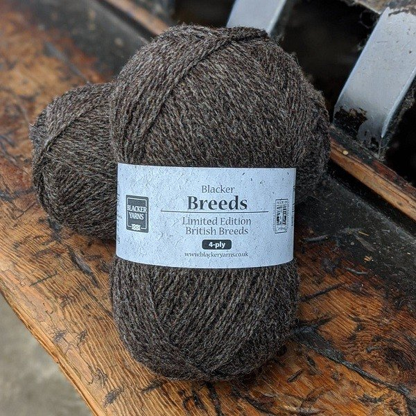 Blacker Yarns Pure Shetland with Jacob 4-ply undyed knitting yarn