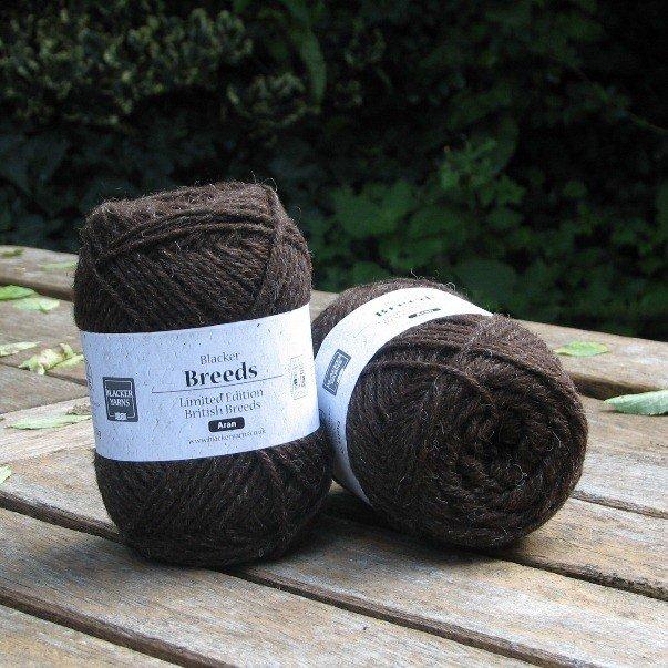 Pure Texel Aran Dark Yarn - Blacker Yarns