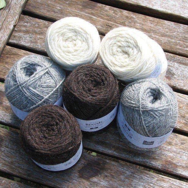 Pure Texel DK White Yarn 2 - Blacker Yarns