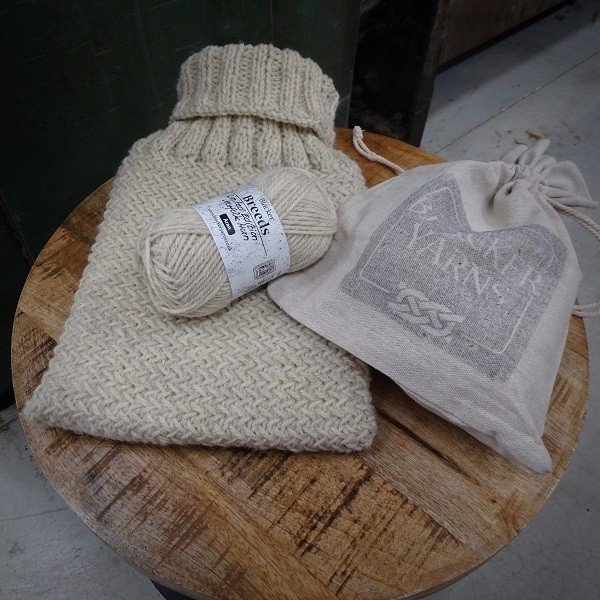 Silverdale Cosy Hot water Bottle Cover Kit in Norfolk Horn - Blacker Yarns