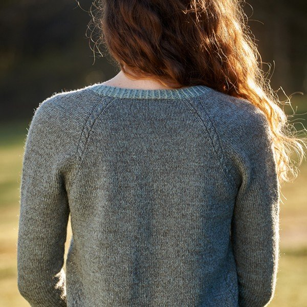 Stannum Cardigan Back View - Blacker Yarns