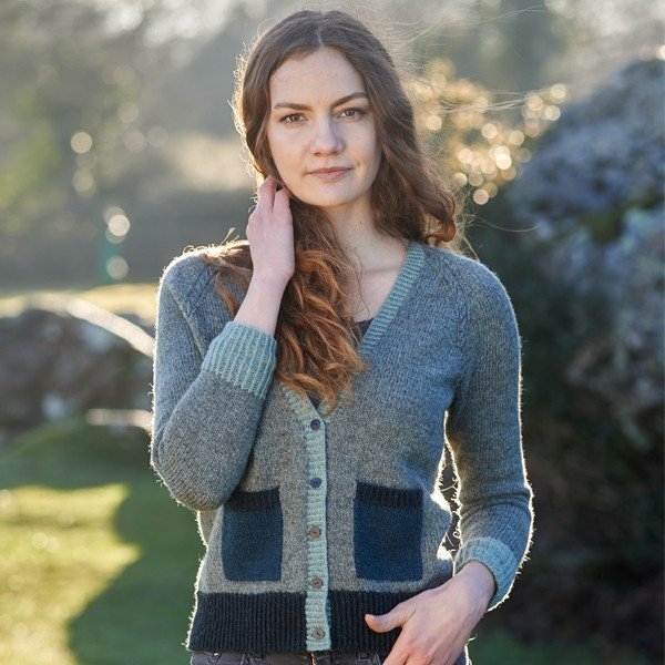 Stannum Cardigan Front View - Blacker Yarns