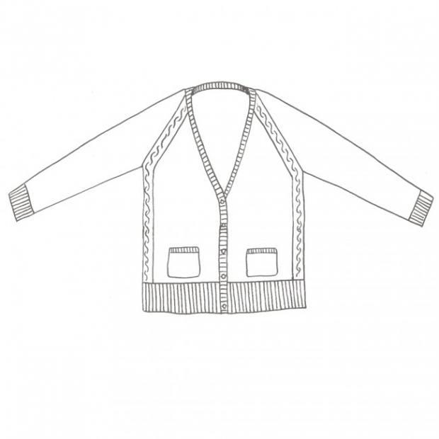 Stannum Cardigan Outline - Blacker Yarns
