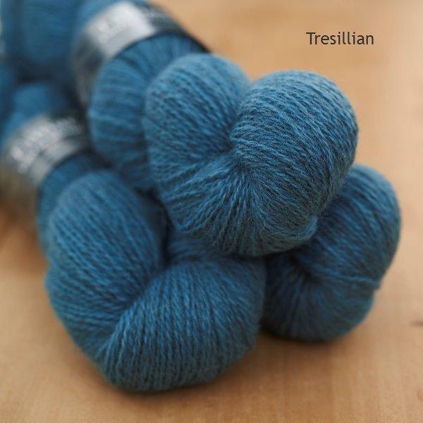 Tamar Lustre Blend 4-ply, Tresillian turquoise