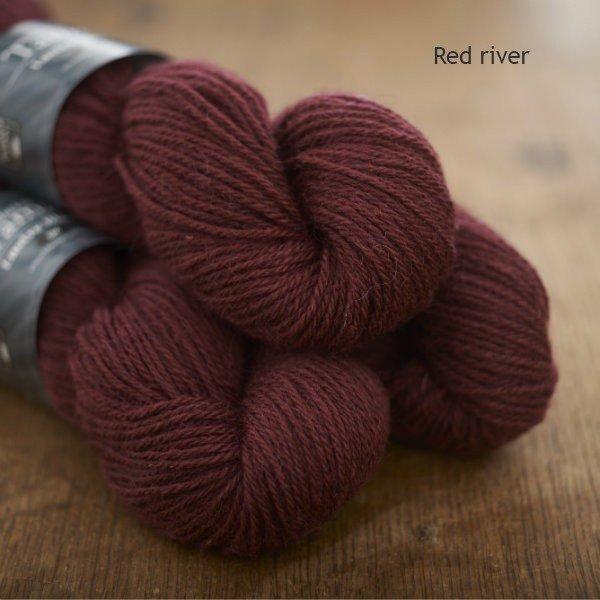 Tamar Lustre Blend DK, Red River deep rose