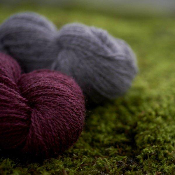 Tamar Lustre Blend DK closeup - Blacker Yarns