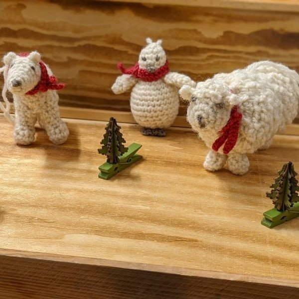 Three Little Snows Christmas Decorations