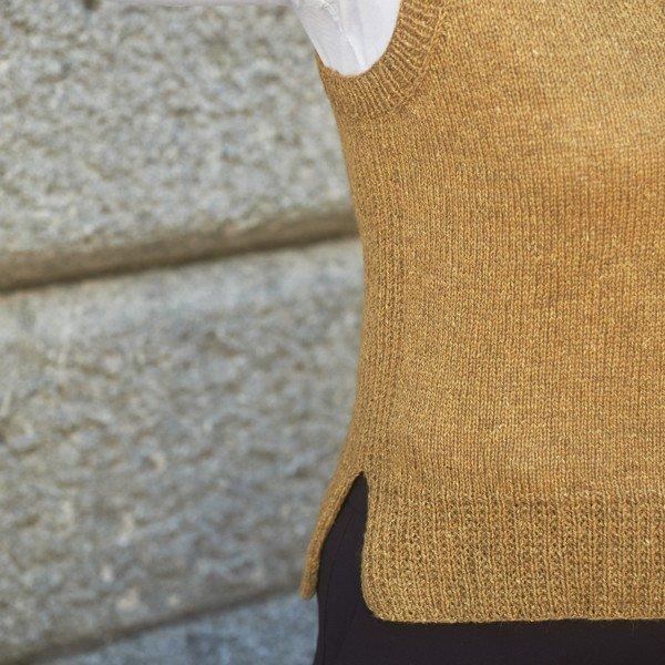 Trym Vest 3 ply Closeup - Blacker Yarns