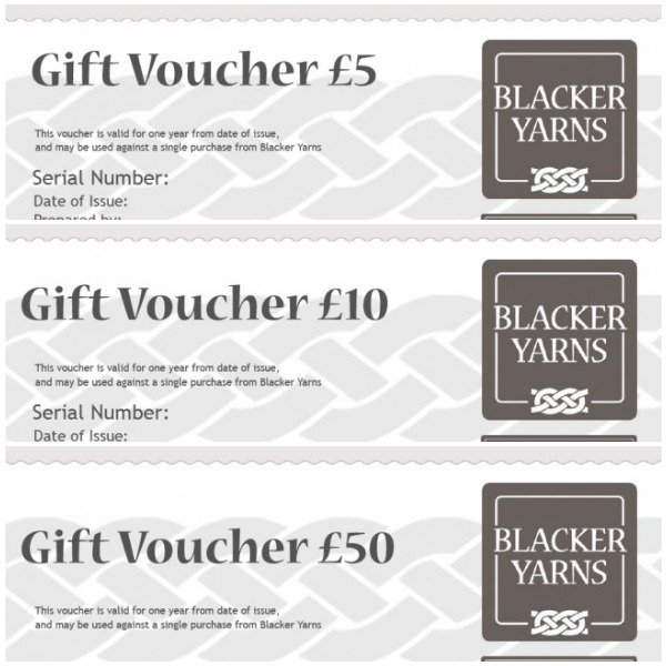 Blacker Yarns Gift Vouchers