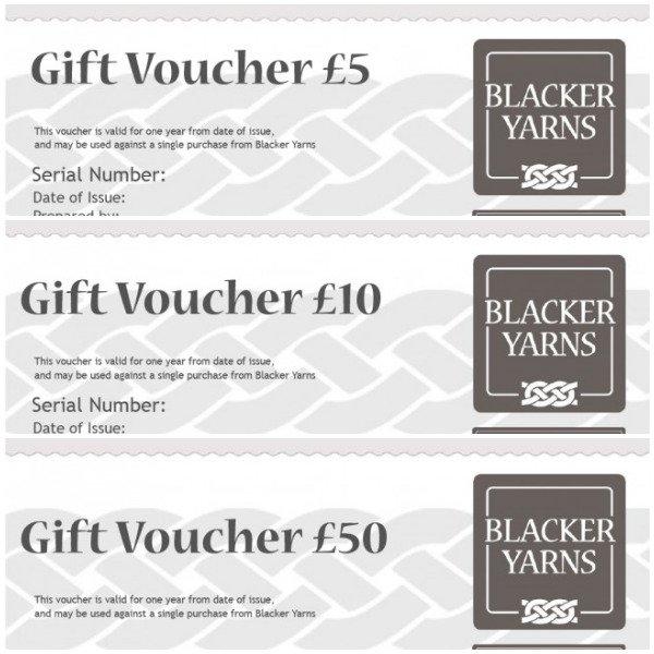 Blacker Yarns Gift Vouchers