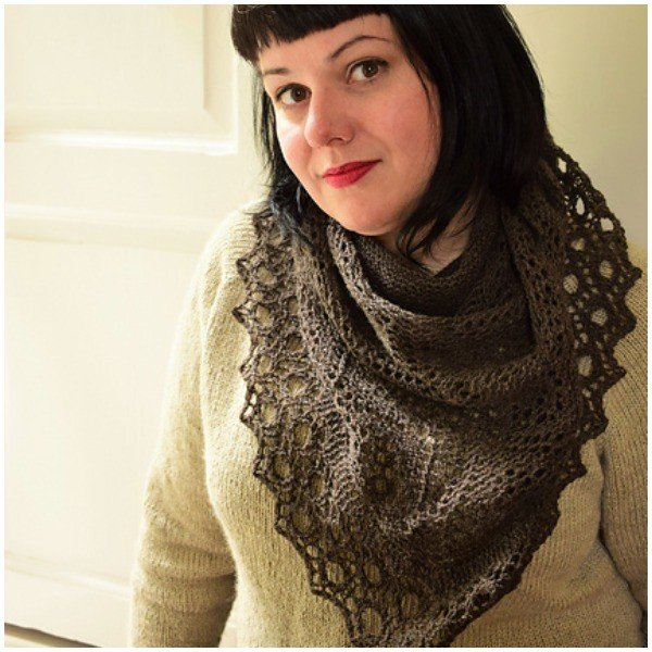 Woodcut Shawl by Karie Westermann - Blacker Yarns