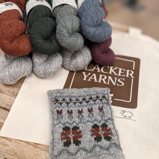 Woodland Fair Isle kit scaled - Blacker Yarns